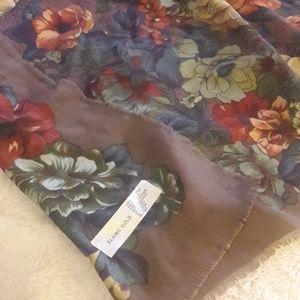 Floral Elaine Gold scarf
